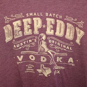 Bella Canvas Tops - Deep Eddy Vodka Burgundy Wash T-shirt • M/L